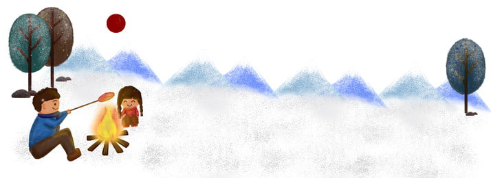 冬季冬日雪地樹林男孩女孩火堆烤背景 冬季 冬日 雪地 樹林 男孩女孩 火堆烤 手繪 樹, 冬季, 冬日, 雪地 背景圖片