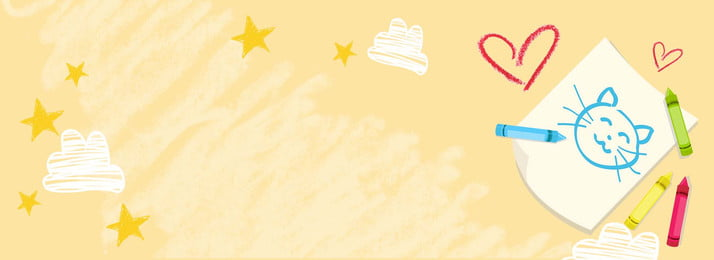yellow crayon love stars poster background, Drawing, Crayon Painting, Crayon Stationery Background image