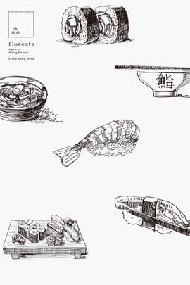 Gourmet Sushi Poster Design Gráfico Zephyr Sushi Mão dos desenhos Zephyr Sushi Mão Imagem Do Plano De Fundo