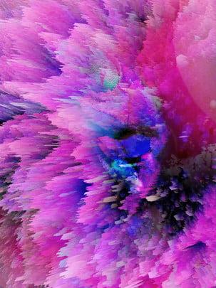 3 डी ब्लास्टिंग कण बैंगनी फंतासी , 3 डी, नष्ट करना, बैंगनी पृष्ठभूमि छवि