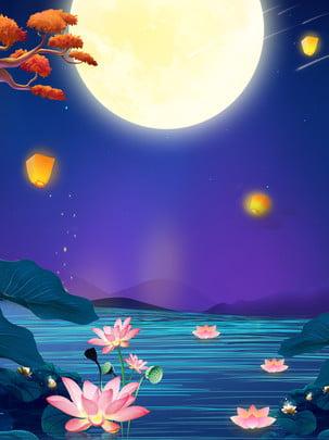 Phim hoạt hình thẩm mỹ thiết kế tuyên truyền trung thu Tết Trung Thu Hình Nền