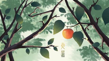 アップルフルーツツリーグリーンの新鮮な熱の背景 りんご 果樹 グリーン 背景画像