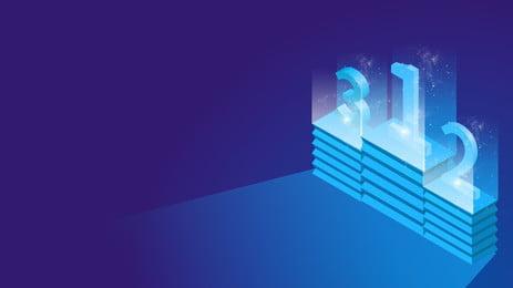 Effet de lumière atmosphérique stéréo 25d podium numérique ppt fond 25d Microscopique Nombre Podium Atmosphère Effet de lumière La Effet De Lumière Image De Fond