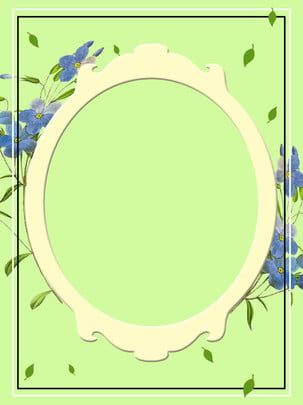 秋季藍色花卉背景 , 秋季, 藍色花卉, 綠色 背景圖片