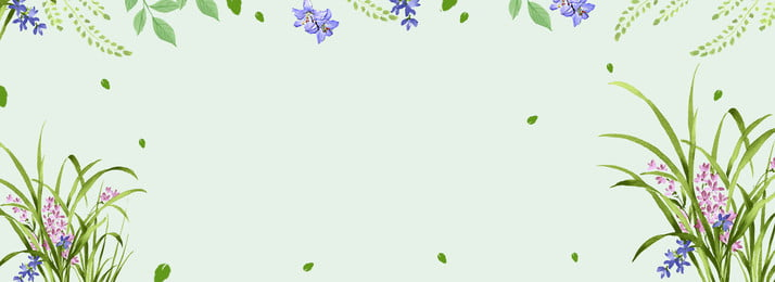 Autumn Floral Beautiful Minimalist Background Flowers,light Green,beautiful,simple,banner Background,green, Leaf, Autumn, Lavender, Background image