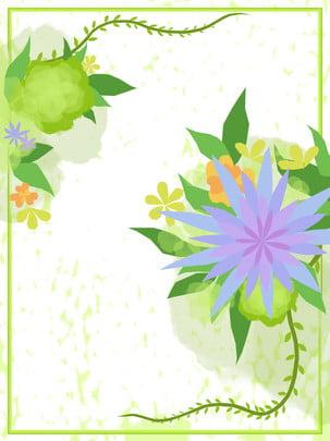 秋季花卉手繪背景 , 秋季花卉, 手繪, 花繪 背景圖片