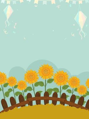 秋天花卉向日葵背景 , 秋天, 藍色, 花卉 背景圖片