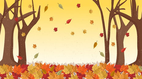 autumn golden deciduous forest background illustration design, Hello Autumn, Autumn Leaves, Autumn Background image