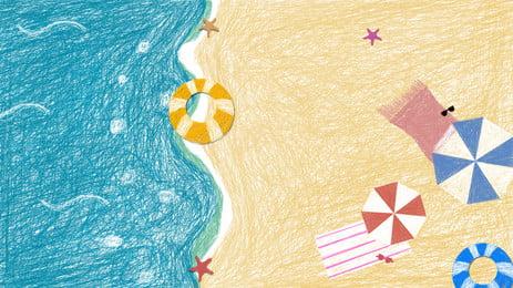 musim luruh solar card coil bahan latar belakang gegelung, Latar Belakang Gegelung, Seni Gegelung, Pantai imej latar belakang
