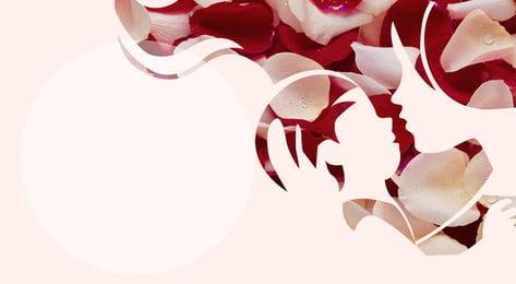 美しく、暖かい母愛花びらバナーの背景デザイン 花びら クリエイティブ ポスターの背景 背景画像