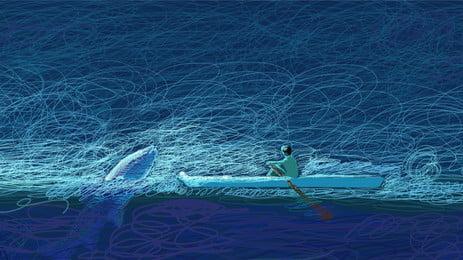 tinjauan gegelung yang indah latar belakang ilustrasi laut, Cantik, Latar Belakang Biru, Kesan Gegelung imej latar belakang