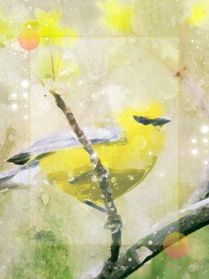 Beautiful ink kingfisher simple yellow dream background , Beautiful, Ink, Kingfisher Background image