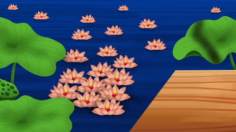 Đẹp trung thu pond lotus light nền vật liệu Ao Ao Sen Hình Nền