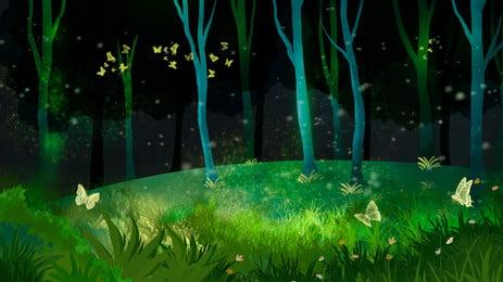 सुंदर रात वन विज्ञापन पृष्ठभूमि, सुंदर, रात, वन पृष्ठभूमि छवि