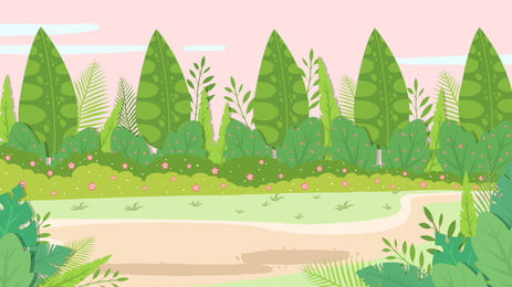 美しい公園の広告の背景, 公園, 小花, 広告の背景 背景画像