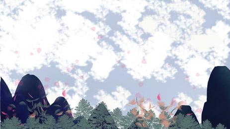 美しい花びら星空の背景素材 花びら 星空 美しい 背景画像