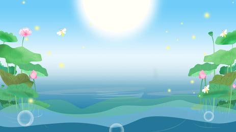 Đẹp mùa hè sen hồ poster chất liệu Đẹp Ao Sen Hình Nền
