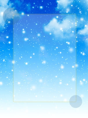 아름다운 겨울 눈송이 꿈꾸는 푸른 미니멀 한 배경 , 아름다운, 겨울, 눈송이 배경 이미지