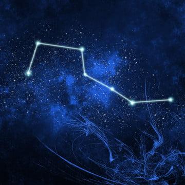 big dipper seven stars , Big Dipper, Starry Sky, Technology Background image