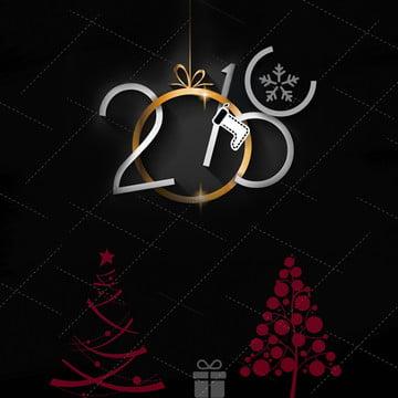 Black 2018 Black Tree เทศกาลคริสต์มาสเกล็ดหิมะ สีดำ 2018 ปีติ คริสต์มาส เกล็ดหิมะ ต้นไม้ สีดำ 2018 ปีติ รูปภาพพื้นหลัง