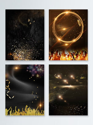 black gold background luxury corporate annual meeting poster , Black Gold, Luxurious, Simple Background image