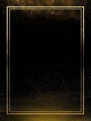 ブラックゴールドボーダーミニマルな背景 , 黒, 金, 顆粒 背景画像