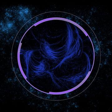 黒い星空の背景 , テクノロジー, 黒, ブルー 背景画像