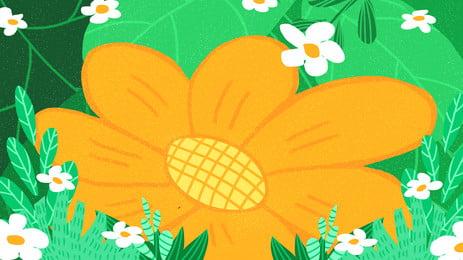 盛開向日葵廣告背景, 廣告背景, 清新, 植物 背景圖片