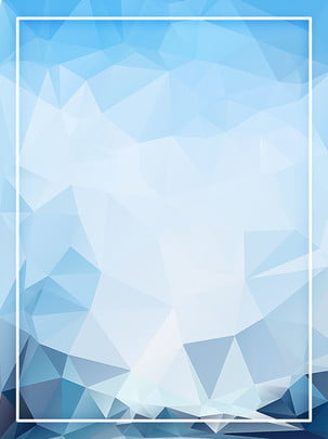 blue atmospheric solid polygon gradient background , Stereoscopic, Polygon, Triangle Background image