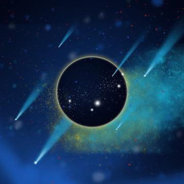 青のカラフルな星空 , 星空, テクノロジー, 地球 背景画像
