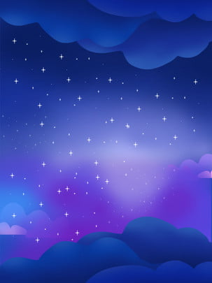 藍色夢幻風景星空背景 , 藍色, 夢幻, 風景 背景圖片