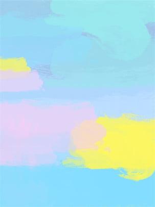 Material de fundo em aquarela gradiente rosa azul Pink Azul Textura Textura Publicidade Cartaz vertical Página H5 Mural Gradiente H5 Mural Gradiente Imagem Do Plano De Fundo