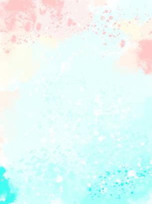 藍色粉色水彩時尚簡約背景 , 藍色, 風色, 時尚 背景圖片