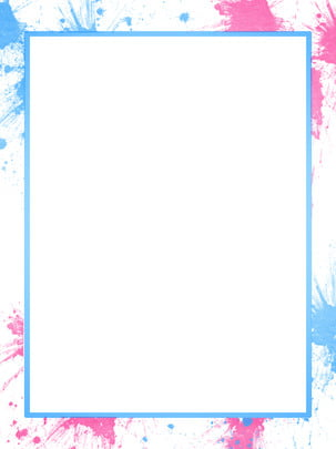 blue pink watercolor splash ink soft background , Blue, Pink, Box Background image