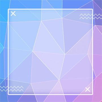 파란색 보라색 그라데이션 기하학적 다각형 배경 , 크리에이티브, 기하학, 다각형 배경 이미지