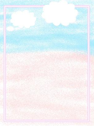 藍天白雲背景圖 , 藍天, 白雲, 邊框 背景圖片
