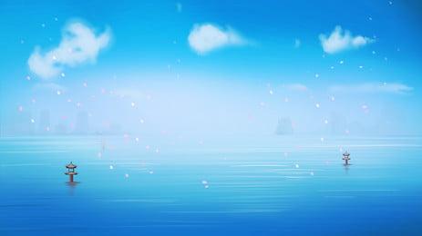 Blue sky hồ phim hoạt hình nền minh họa Phim Hoạt Hình Hình Nền