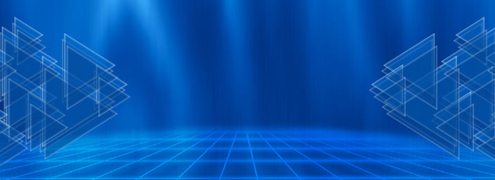 Blue Technology Background Background,grid,blue,triangle,halo,banner Background,high Tech,exhibition, Board, Blue Technology Background, Background, Background image