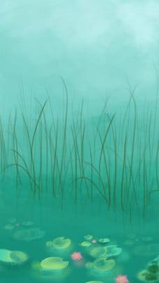 ぼやけている草の背景素材 , ブルー, 背景をぼかし, 単純な 背景画像