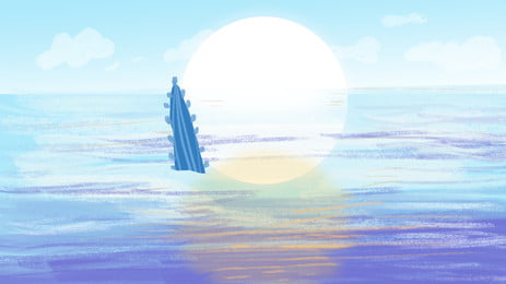 Calm Fresh Sea Advertising Background Background,sea Surface,fresh,whale,sunlight,sun,sky,maritime, Calm Fresh Sea Advertising Background, Background, Sea, Background image