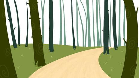 Phim hoạt hình rừng dễ thương đường nền Phim Hoạt Hình Hình Nền