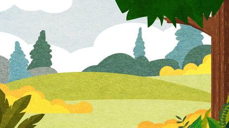 Cartoon dễ thương nền cỏ minh họa Phim Hoạt Hình Hình Nền