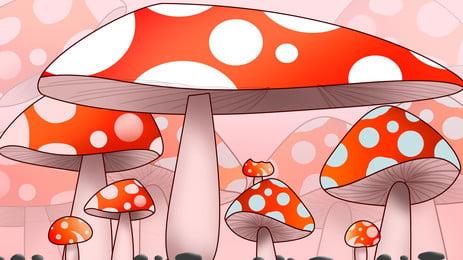 Cartoon thiết kế nền nấm dễ thương Phim Hoạt Hình Hình Nền