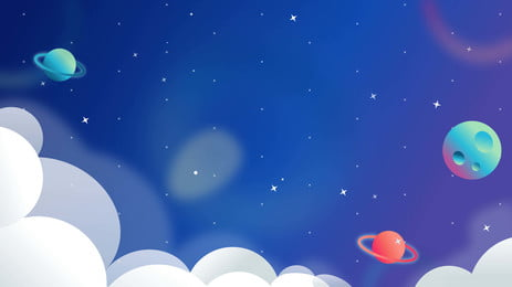 rekabentuk latar belakang planet comel kartun, Kartun, Comel, Latar Belakang Kosmik imej latar belakang