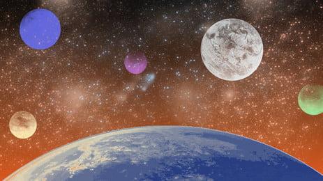 Cartoon thiết kế hành tinh giả tưởng Phim hoạt hình Hành Liệu Tay Thị Hình Nền