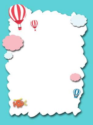Cartoon khinh khí cầu nền Ảnh chính Bối cảnh Kinh Trẻ Hoạt Ảnh Hình Nền