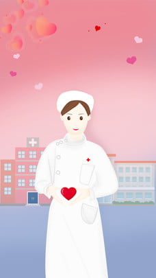 Cartoon y tá ngày poster thiết kế nền Ngày y tá Tình Nền Hoạt đầy Hình Nền