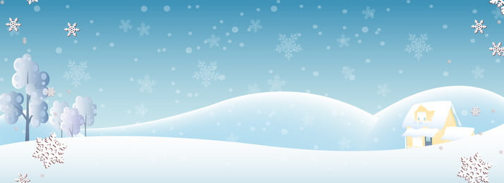 漫画冬ミニマリストポスター 漫画 文学 冬 雪のシーン 小さな家 スノーフレーク 雪が降る 漫画冬ミニマリストポスター 漫画 文学 背景画像