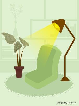 Ghế nền cây dưới đèn bàn đơn giản Đèn Bàn Ghế Hình Nền
