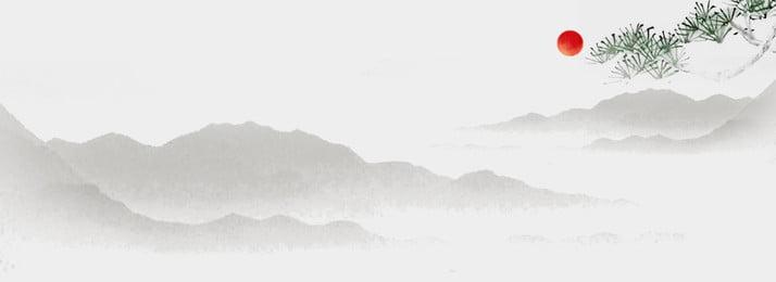 オリジナル中国風古風水墨山水背景 中国風 オリジナル 古風 背景画像